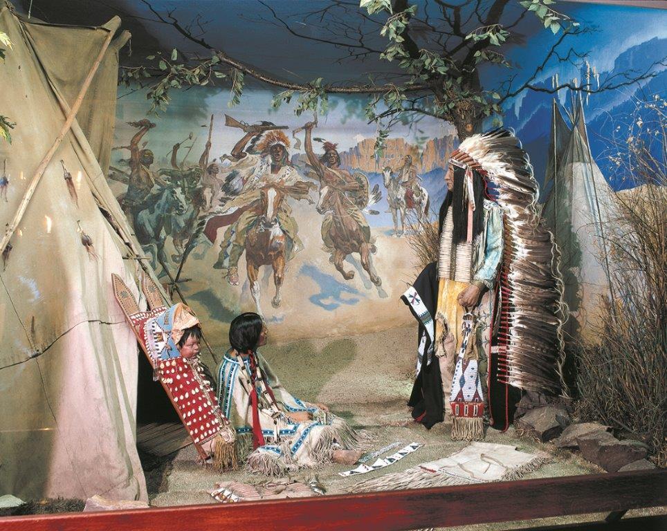 Diorama im Karl-May-Museum Radebeul